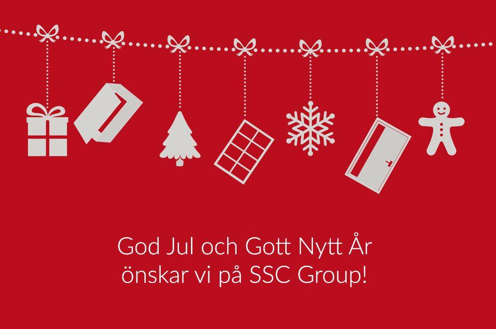 God Jul och Gott Nytt År önskar vi på SSC Group! 1