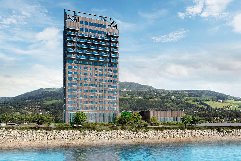 Världens högsta trähus, Mjøstårnet i Brumunddal, får dörrar från SSC 1