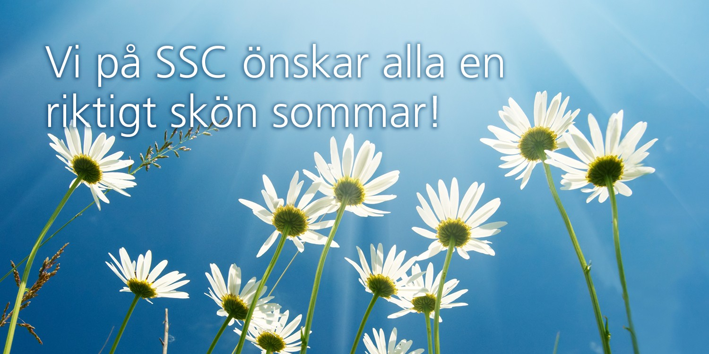 Glad sommar önskar vi på SSC 1